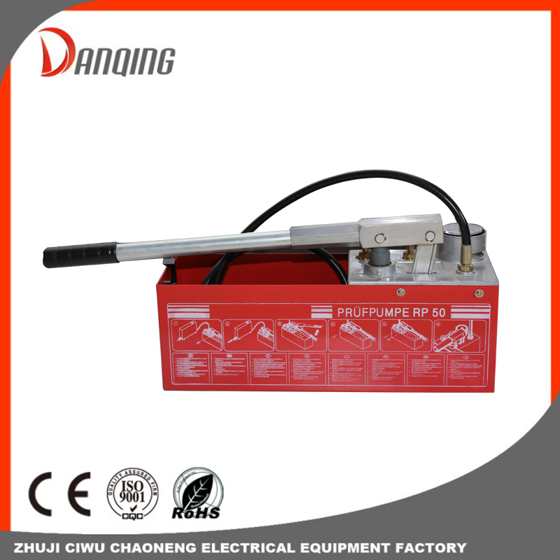 Manual Pipeline Pressure Hydraulic Test Pump